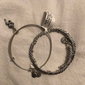 Alex and Ani, Crystal Snake, set for two